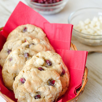 Pomegranate White Chocolate Chip Cookies