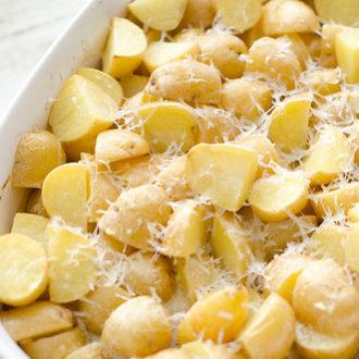 Lemon Garlic Baby Potatoes