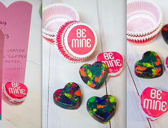 Homemade Valentine Heart Crayons