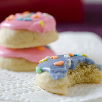 DIY Mini Soft Frosted Sugar Cookies