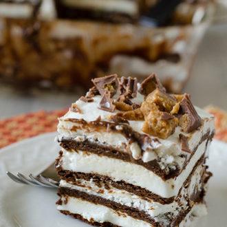 Chocolate Peanut Butter Ice Cream Bar Dessert