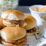 Slow Cooker Pulled Pork with Peach Barbecue Sauce