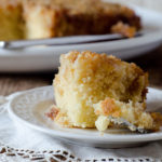 Upside Down Peach Crumb Cake