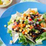 Black Bean Tortilla Chip Salad
