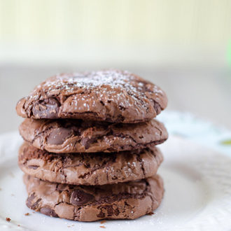 Chocolate Chip Brownie Mix Cookies