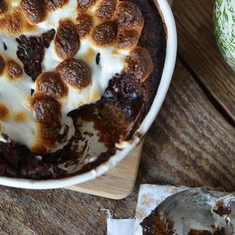 Ooey Gooey S'mores Pudding Cake