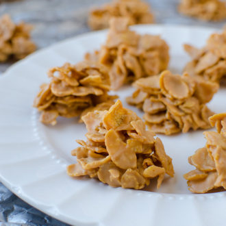 No-Bake Butterscotch Cornflake Cookies – Easy as 1-2-3!