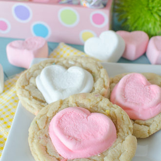 Valentine White Hot Cocoa Sprinkles Cookies