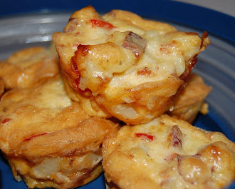Individual Potato-Bacon Frittatas