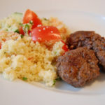 Spiced Mini Burgers with Coucous Salad