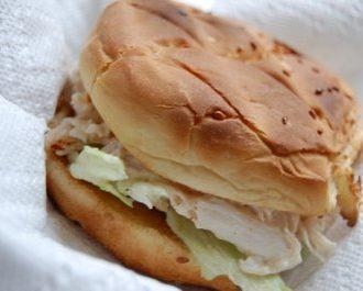 Leftover Chicken Salad Sandwich