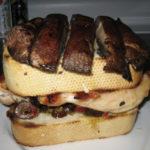 Portobello Chicken Sandwich with Muffalata