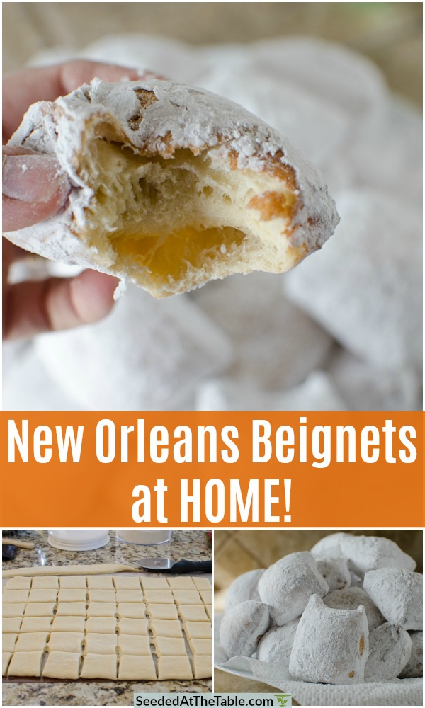 pinterest collage for new orleans beignets recipe