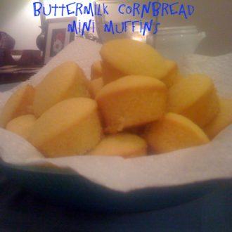 Buttermilk Cornbread Mini Muffins