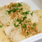 Chicken Scaloppine with Saffron Cream Sauce