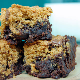 Chocolate & Peanut Butter Cookie Brownies