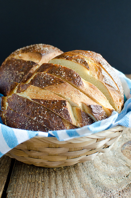 Sliced Pretzel Bread