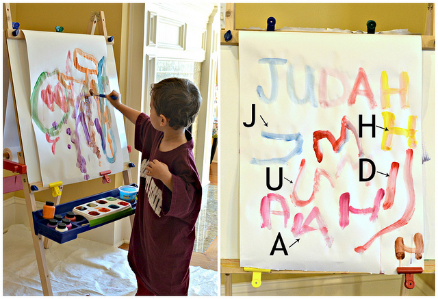 Judah Paints Collage