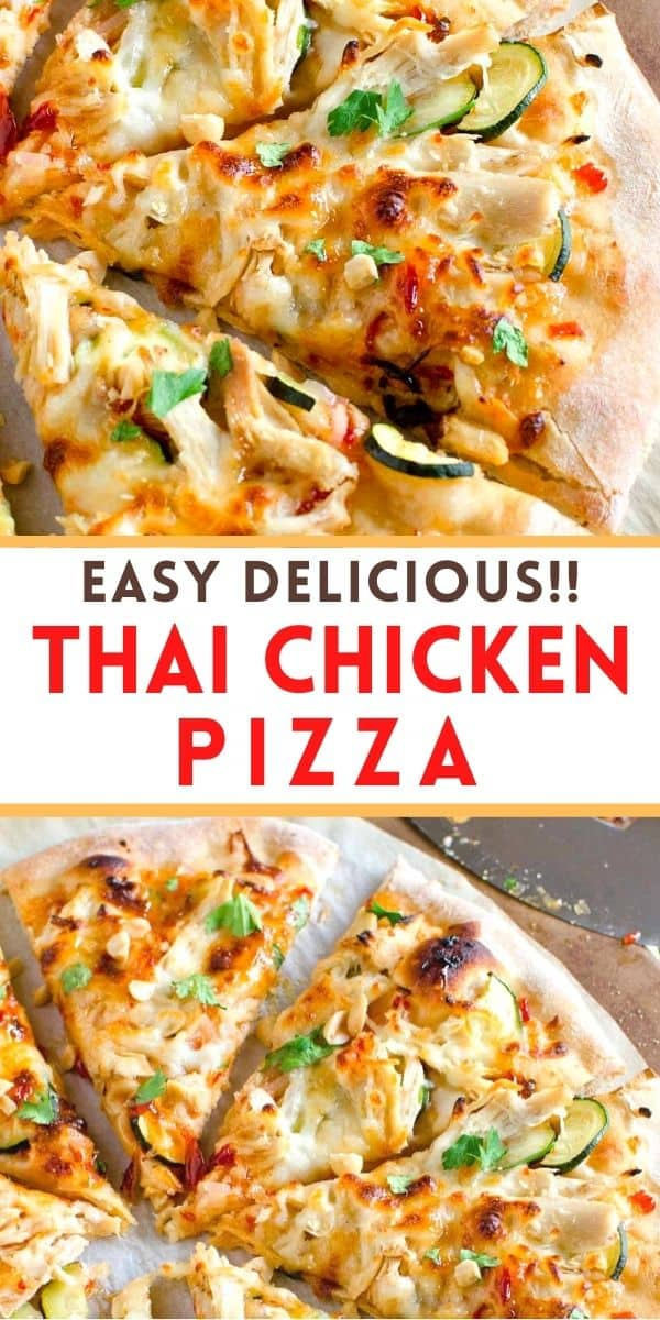 Our Thai pizza is topped with chicken, fresh vegetables and herbs with a sweet & spicy Asian sauce. It's a favorite in our pizza night rotation!