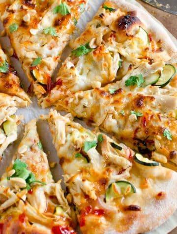 slices of thai pizza