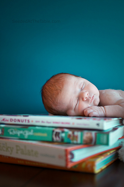 cookbooks newborn photo