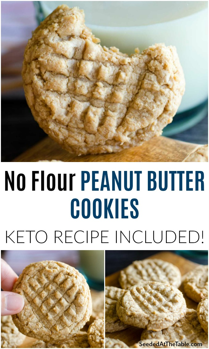 These flourless peanut butter cookies are made from 3 ingredients and are SO good. Dirty only ONE bowl and have these ready in just 15 minutes! Make these peanut butter cookies keto-friendly when using natural sweetener.