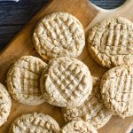 peanut butter cookies spread on platter