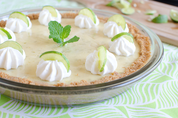 Use regular limes or key limes to make this surprisingly very easy pie! Enjoy all spring and summer!