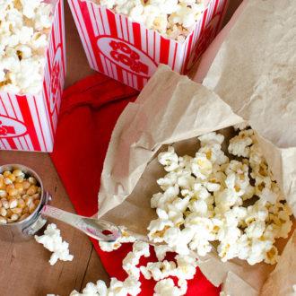 DIY Microwavable Popcorn
