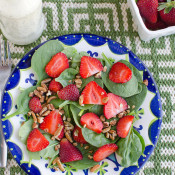 Strawberry Spinach Salad with Simple Poppyseed Dressing
