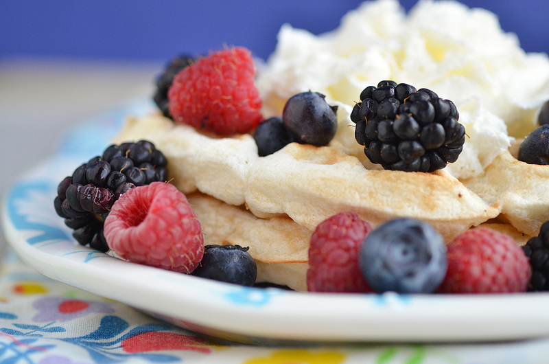 Angel Food Cake Waffles