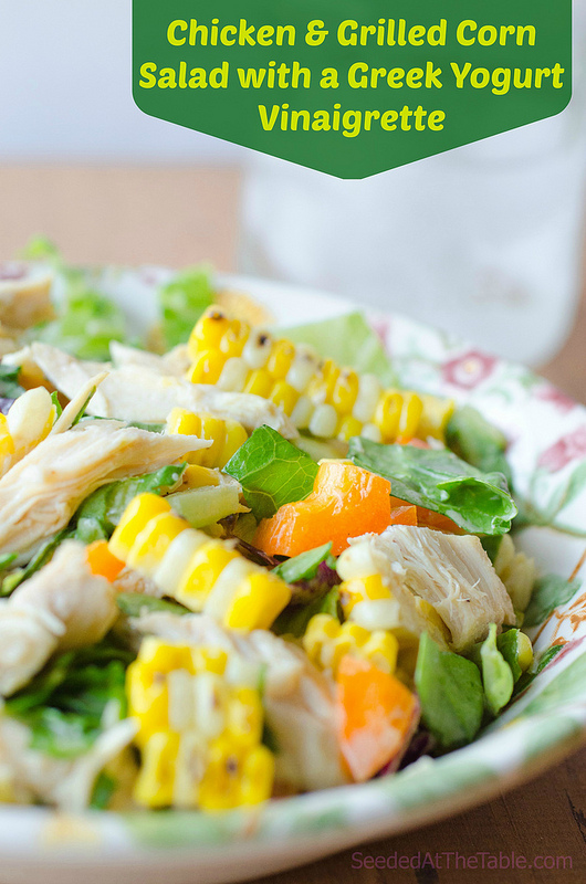 Grilled Corn and Chicken Salad