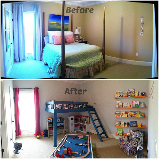 Big Boy Room Before After