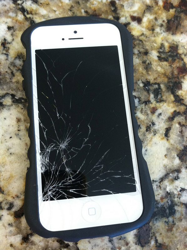 Shattered iPhone 5