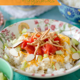 These Hawaiian Haystacks are a fun family-friendly meal great for a get-together where everyone can personalize their own bowl! Some may call these Chinese Sundaes, but they are the same fluffy rice with chicken gravy and other fruity and crunchy toppings that you pick!