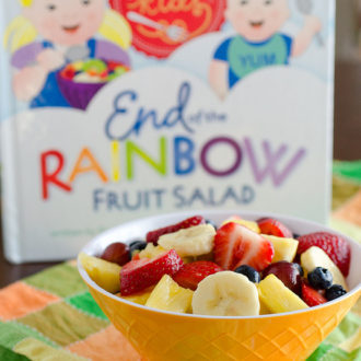 "End of the Rainbow Fruit Salad for Jessica's ""Pot of Gold"" Virtual Baby Shower"