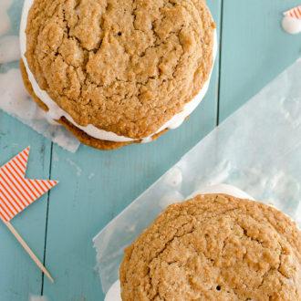 Oatmeal Creme Pie Ice Cream Sandwiches {Hubby Appreciation Post}