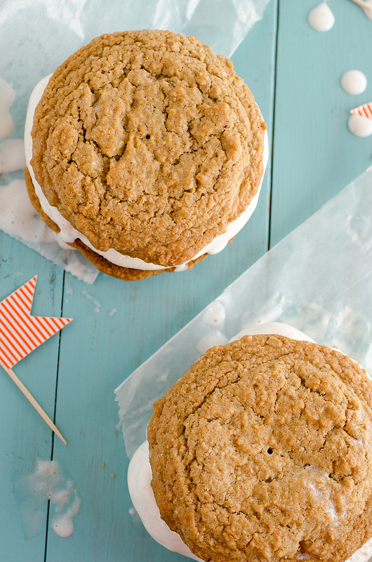 Oatmeal Creme Pie Ice Cream Sandwiches