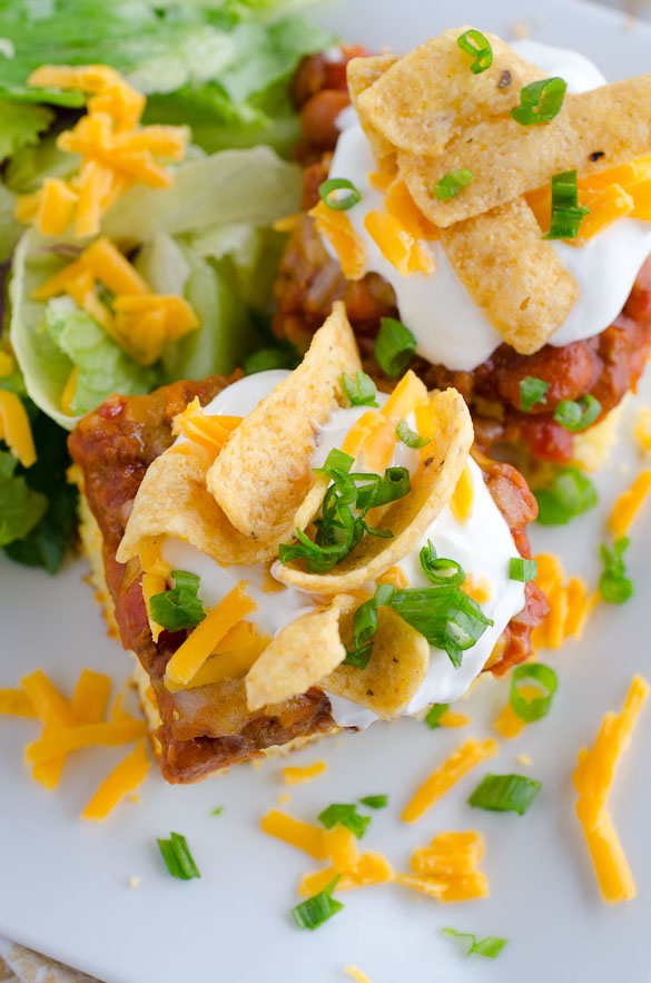 These chili cornbread squares feed a crowd, giving you the perfect dish for a party or potluck dinner.