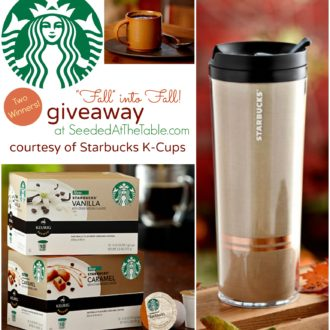 """Fall"" into Fall: New Starbucks Vanilla & Caramel K-Cup Flavors {Giveaway!}"