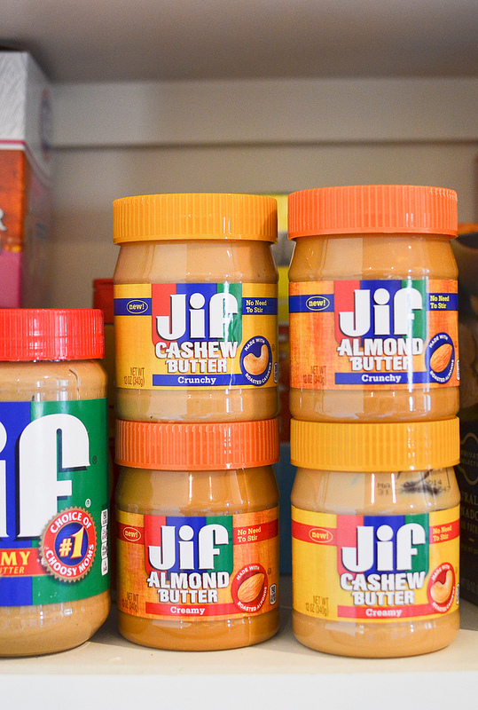Jif Almond and Cashew Butters