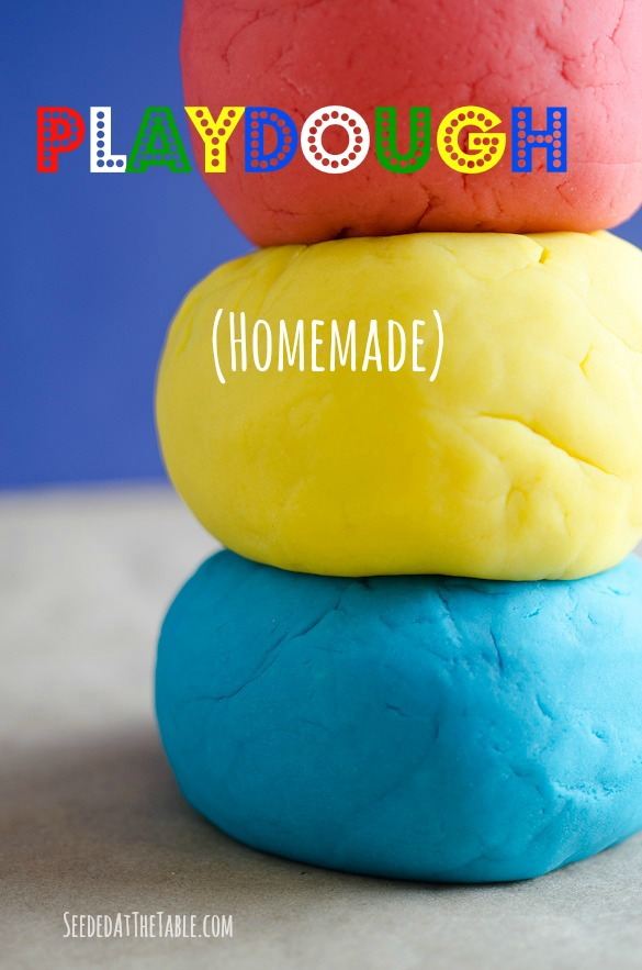 Easy DIY Homemade Playdough from SeededAtTheTable.com
