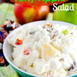 Snickers Bar Taffy Apple Salad by SeededAtTheTable.com