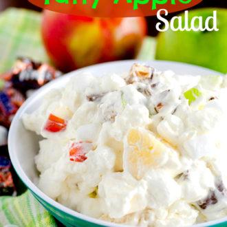 Snickers Taffy Apple Salad