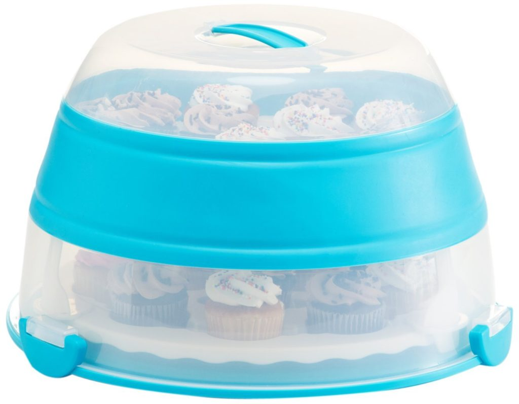 Collapsible Cupcake Carrier for easy storage