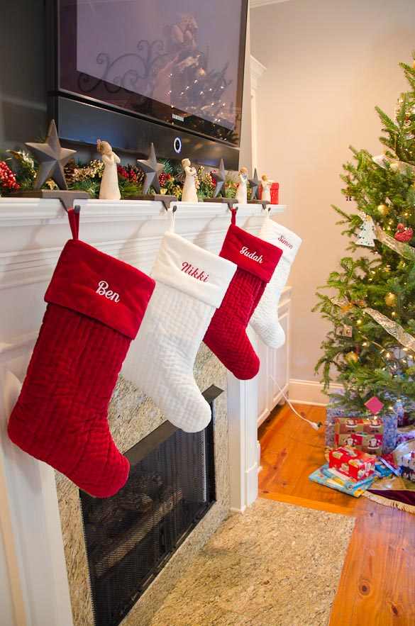 Pottery Barn Christmas Stockings from SeededAtTheTable.com