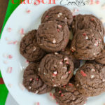 Chocolate Peppermint Crunch Cookies by SeededAtTheTable.com