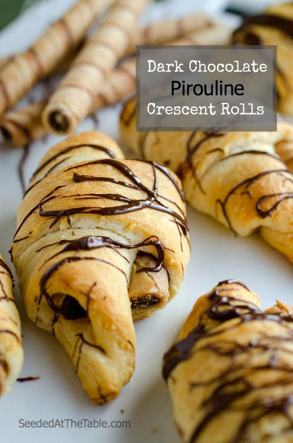 Pirouline Chocolate Crescent Rolls