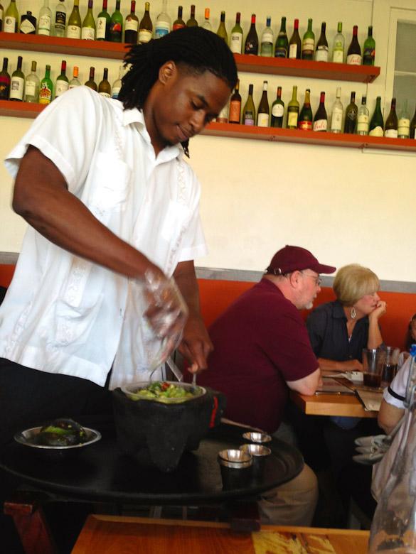 Babalu Tacos and Tapas table-side guacamole - Jackson, MS