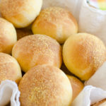 Basket of cornbread rolls.
